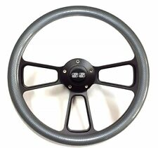 1966 Chevelle, El Camino Carbon Fiber Steering Wheel Chevy SS Horn Kit + Adapter