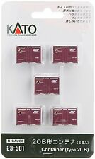 Kato 23-501 Type 20B Containers 5 pcs N scale New Japan