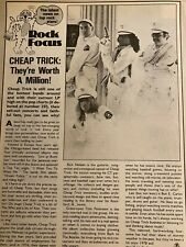 Cheap Trick, Greg Evigan, Double Full Page Vintage Clipping