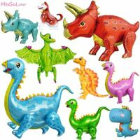 Dinosaur Foil Ballons Birthday Decor Party Supplies Kids Boys Baby Shower Toy
