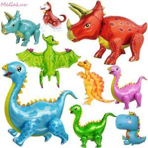 Dinosaur Foil Ballons Birthday Decor Party Supplies Kids Boys Baby Shower Toy D