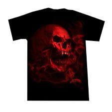 Heavy Metal T Shirt Smoky Red Vamp Skull