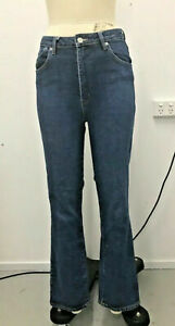 Rollas jeans high rise straight- classic blue size 29 Aus 11 rrp $140