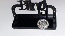 Crystals & VINTAGE BEAD CLUSTER Jewelry PONYTAIL Holder BLACK DIAMOND!