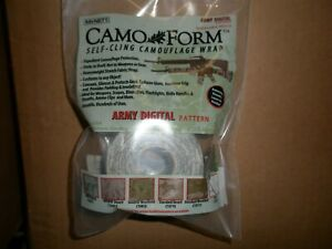 MCNETT CAMO FORM SELF CLING CAMOFLAGE WRAP -ARMY DIGITAL PATTERN - 24 PK