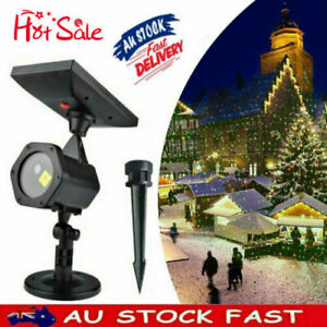 Waterproof Outdoor Christmas Lights Laser Solar Power Star Light Projector AU %N