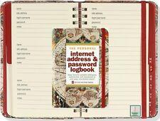 Old World Map Internet Address Username Password Keeper Website Book Organizer