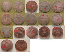 17 Different Adolf Hitler Exonumia Copper Coins. Please Read before Buying.