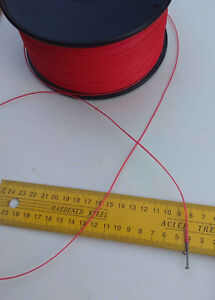 0.9MM X10M Red Dyneema Fiber Synthetic Fishing whipping twine Marine rope 140 kg