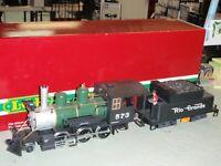 LGB TRAIN 27192 D&RGW STEAM MOGUL #573 w/SOUND & SMOKE G SCALE LOCOMOTIVE G