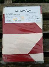 VTG IKEA DUVET SET TWIN Dark RED CHEVRON Bedding MOMMALA Geometric Pillow Case