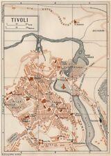 Tivoli VINTAGE Città City Map Piano. pianta mappa città. LAZIO ITALIA 1956
