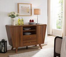 Smart Home 151378 Light Walnut Sideboard Buffet Serving Table