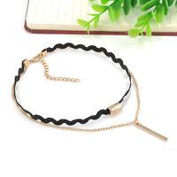 Women Gold Chain Choker Chunky Statement Bib Necklace Jewelry Charm Pendant
