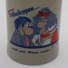 Extremely Rare Vintage Mug Beer Stein Stoneware LOERND PAULUS Germ. Früschoppen