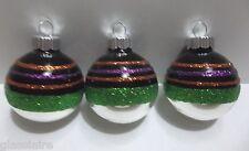 "Christopher Radko Shiny Brite Christmas Tree Ornament 2"" Purple Green Black"
