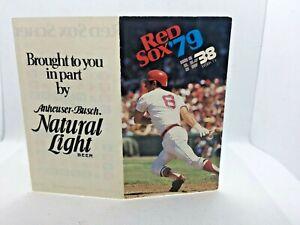 1979 Boston Red Sox Baseball Schedule Carl Yastrzemski Cover Anheuser Busch