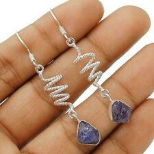 Natural Rough Kyanite 925 Solid Sterling Silver Earrings Jewelry ED18-4