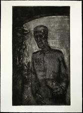 DDR-ARTE/Lipsia scuola, 1984. acquaforte Sighard Gille (* 1941 D) firmato a mano