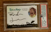 Rick and Morty Season 3 Brandon Johnson as Mr. Goldenfold Autograph Card PSA 8