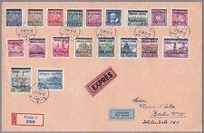 Böhmen und Mähren Mi.Nr. 1-19 Satzbrief nach Berlin geflogen