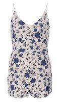Womens Ladies Floral Cami Strappy Playsuit Sleeveless Jumpsuit Romper Shorts
