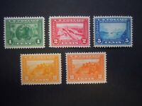 """1913 #397-400a  Panama-Pacific Expo Set MLH OG FVF CV $404 """"Includes New Mounts"""""""