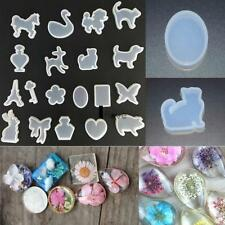 19x Silicone Mould Mold for DIY Resin Round Necklace jewelry Pendant Making Tool