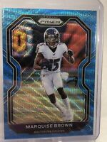2020 Panini Prizm Football Blue Wave Prizm 074/199 Marquise Brown 2nd Year