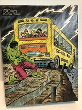 Vintage 1988 The Incredible Hulk Jigsaw Puzzle by Rainbow Works Sealed 11.5x15