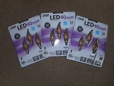 Feit Electric - LED 40W Chandelier Dimmable Clear Light bulbs 3 x 3pk = 9 total