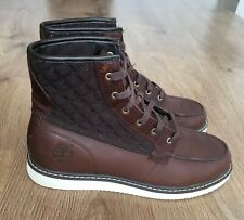 TIMBERLAND NEWMARKET MOC MENS BROWN LEATHER BOOTS UK 9 EU43.5 WORN ONCE