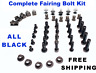 Complete Black Fairing Bolt Kit body screws for Honda CBR 600 RR 2007 - 2008