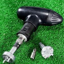 1 Set Golf Spike Ratchet Handle Wrench Tool Bits Golf Remover For Shoe Cleats UK