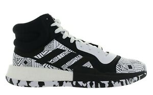 """Adidas Men's """"Marquee Boost"""" Black White Basketball Shoes Multiple Size New"""