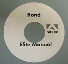 Bond Elite & Bond Elite Ribber Manuals On CD