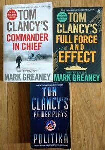 TOM CLANCY ~ Collection bundle job lot ~ 3 paperbacks, 2 in the Jack Ryan series