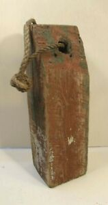 ANTIQUE PAINTED WOODEN NEW ENGLAND FISHING LOBSTER CRAB BUOY NAUTICAL DECOR