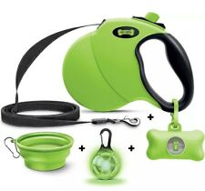 Ruff 'n Ruffus Retractable Dog Leash 16ft With Waste Bag Dispenser and Bags