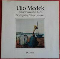 Tilo Medek / Bläserquintette 1-3 / Stuttgarter Bläserquintett LP Vinyl 1989