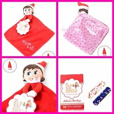 New My First Elf On The Shelf Security Blanket Lot Adhesive Bandages Pink Girl