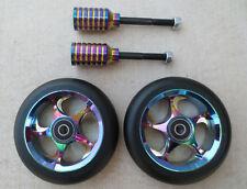 DIS 110mm BlackSlicks Scooter Wheels and Pegs Set (2 wheels + 2 pegs + 2 axles)