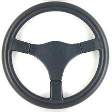 Genuine Momo Cavallino 380mm black leather steering wheel. D&W tuning retro.  7A