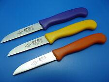 Set 3 Küchenmesser Schälmesser Gemüsemesser Solingen Edelstahl gerade farbig NEU