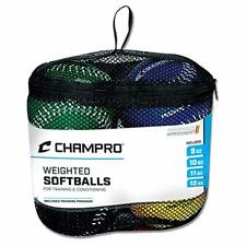 """Champro Training Weighted/Heavy Oversized 12"""" Softballs for Pitching, Set of 4"""