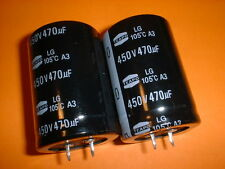 2x Elko 470µF/450V 105°C 35x50mm RM10mm Snap-In 470uF