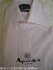 "AQUASCUTUM Pink Cotton Shirt 14.5"" 37cm"