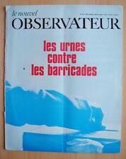 █ Le Nouvel Observateur n°189 Urnes contre Barricades █