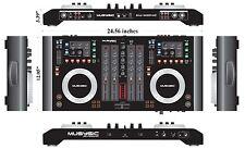 4-Channel USB MIDI DJ Digital Mixer & Controller w/ Soundcard (Audio Interface)