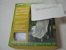 New Jeep White Stroller & Carrier Netting  - Help Protect Child From Insects